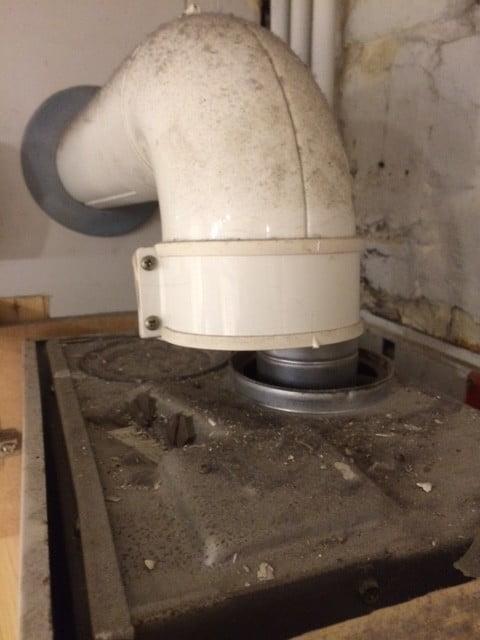 Fixing a broken flue on a gas boiler
